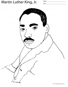 Martin Luther King Coloring Pages on Martin Luther King  Jr  Lesson Plan With Quotes And Coloring Page